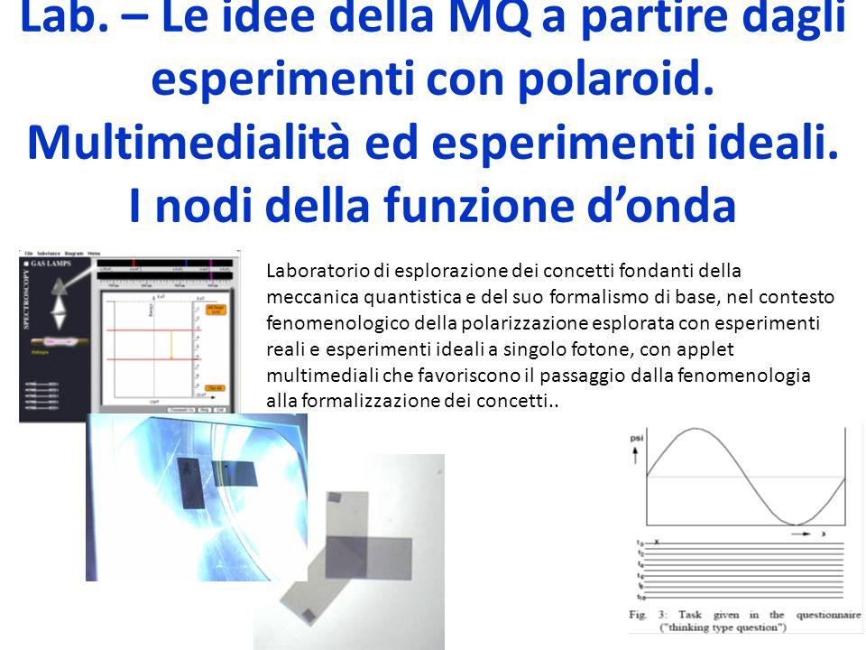 Lab. – Le idee della MQ a partire dagli esperimenti con polaroid