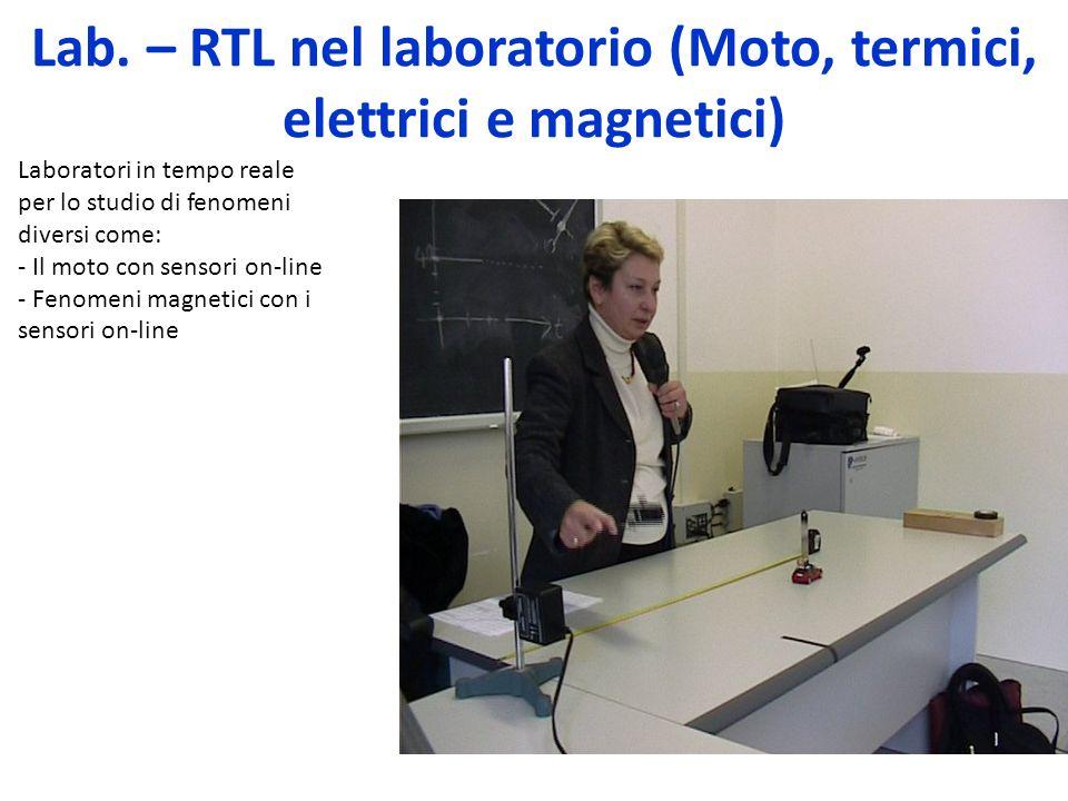Lab. – RTL nel laboratorio (Moto, termici, elettrici e magnetici)