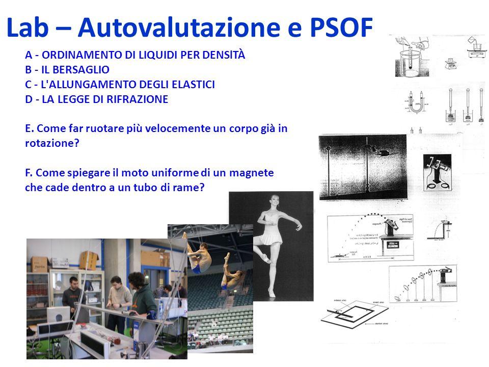 Lab – Autovalutazione e PSOF