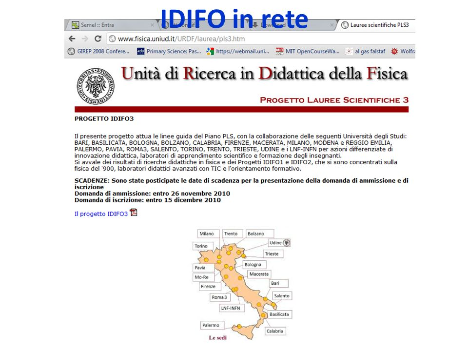IDIFO in rete