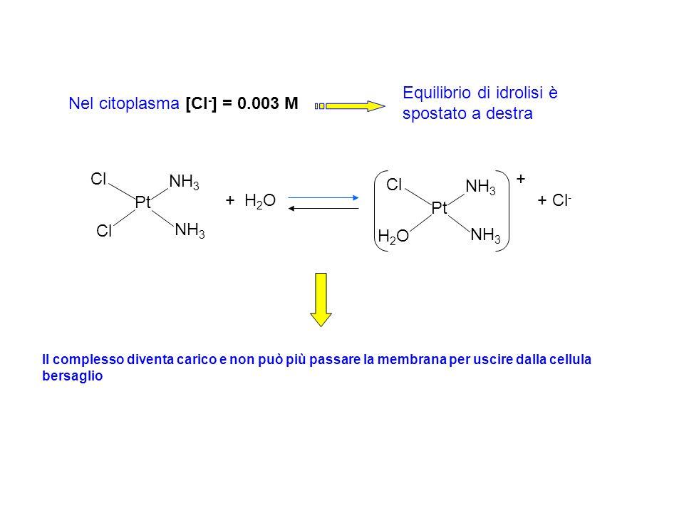Equilibrio di idrolisi è spostato a destra