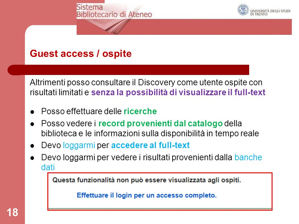 Guest access / ospite