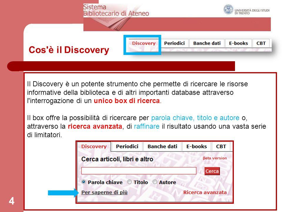 Cos è il Discovery