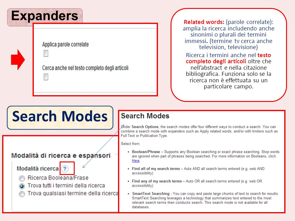 Search Modes Expanders