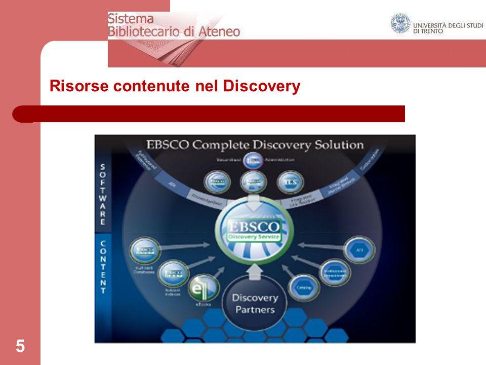 Risorse contenute nel Discovery