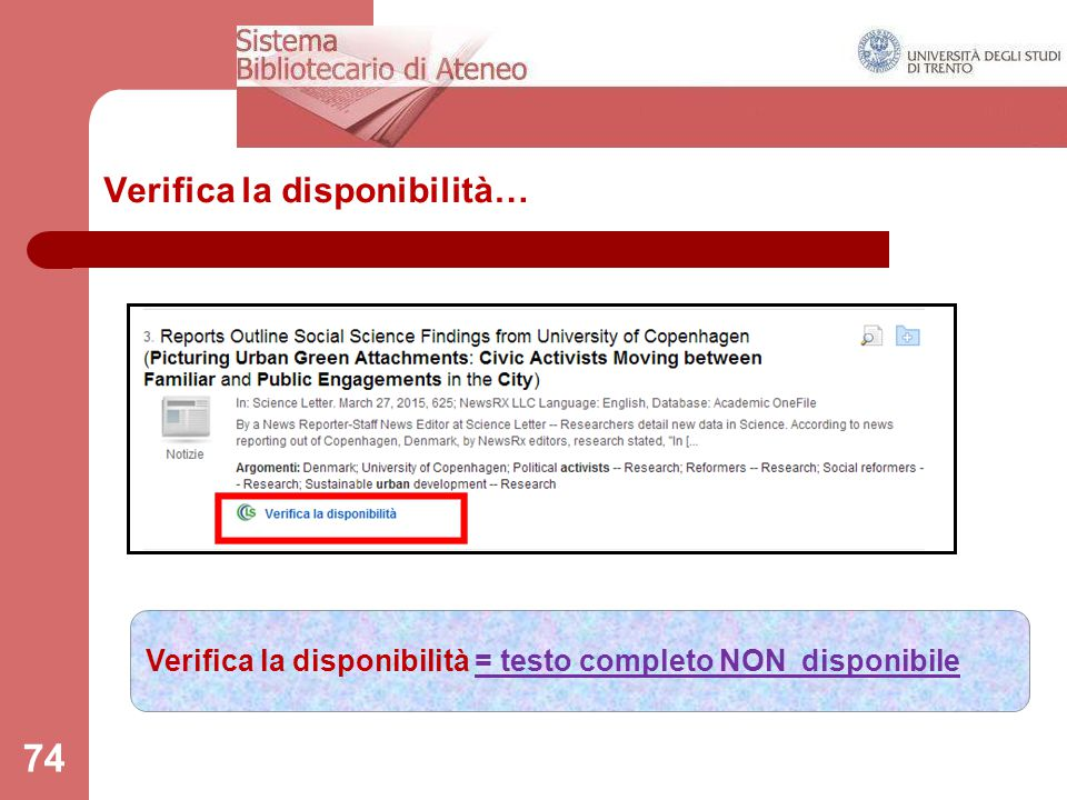 Verifica la disponibilità…