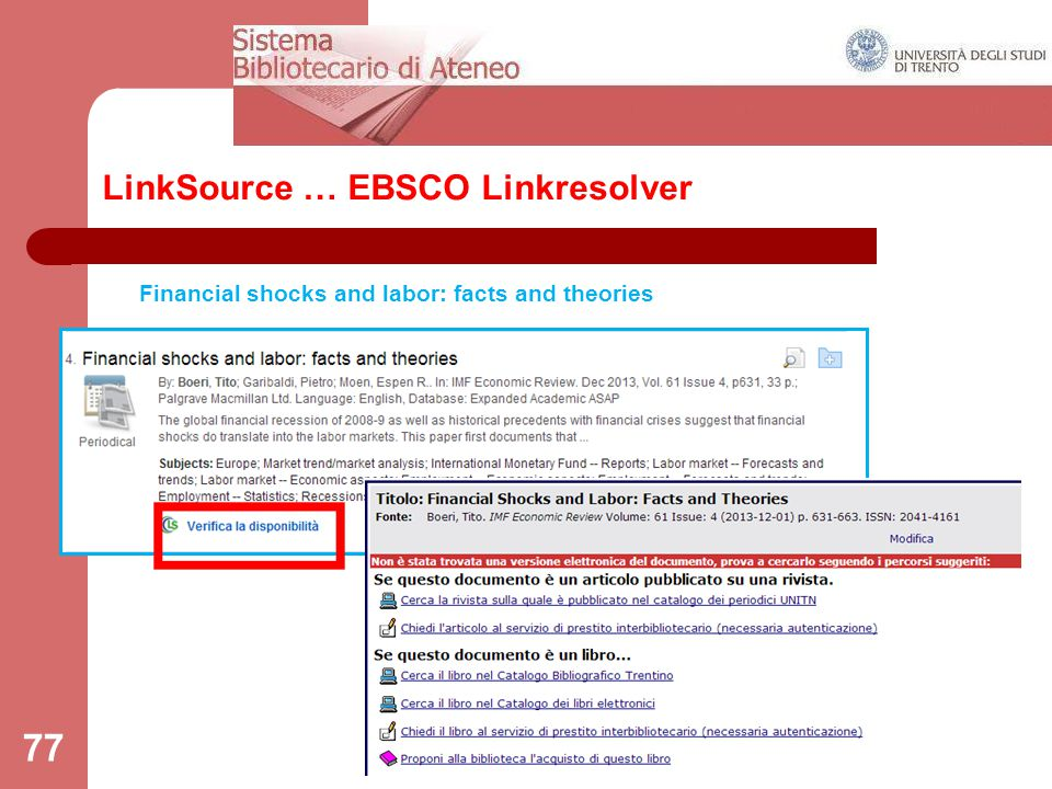 LinkSource … EBSCO Linkresolver