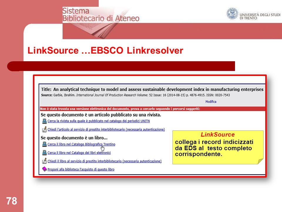 LinkSource …EBSCO Linkresolver