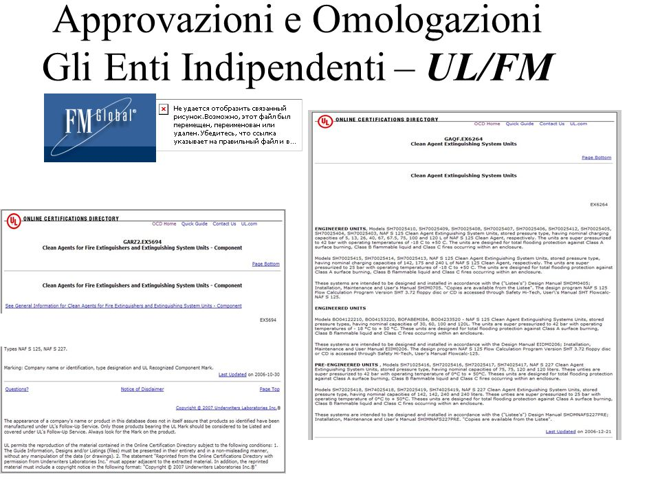Approvazioni e Omologazioni Gli Enti Indipendenti – UL/FM