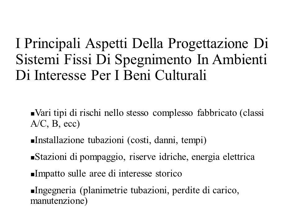 I Principali Aspetti Della Progettazione Di Sistemi Fissi Di Spegnimento In Ambienti Di Interesse Per I Beni Culturali