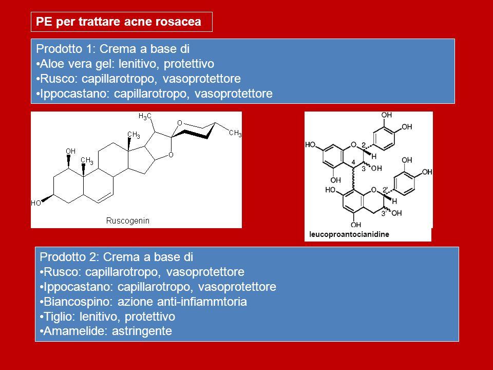 PE per trattare acne rosacea