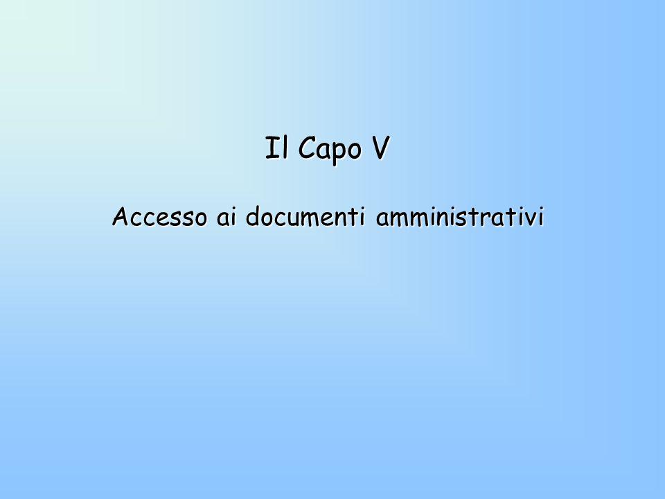 Accesso ai documenti amministrativi