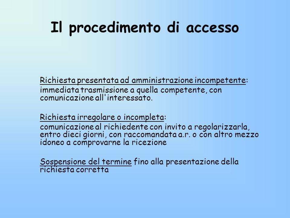 Il procedimento di accesso