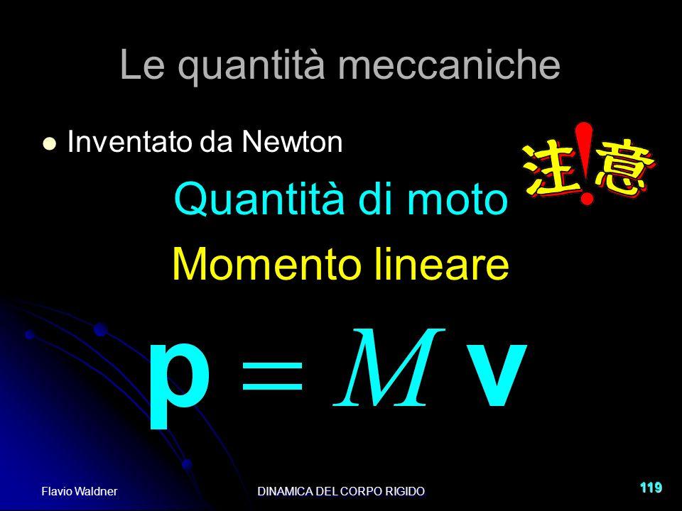 Le quantità meccaniche