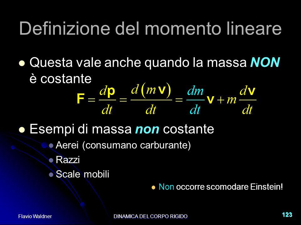 Definizione del momento lineare