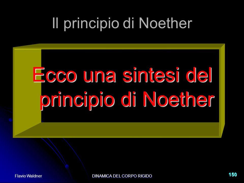 Il principio di Noether