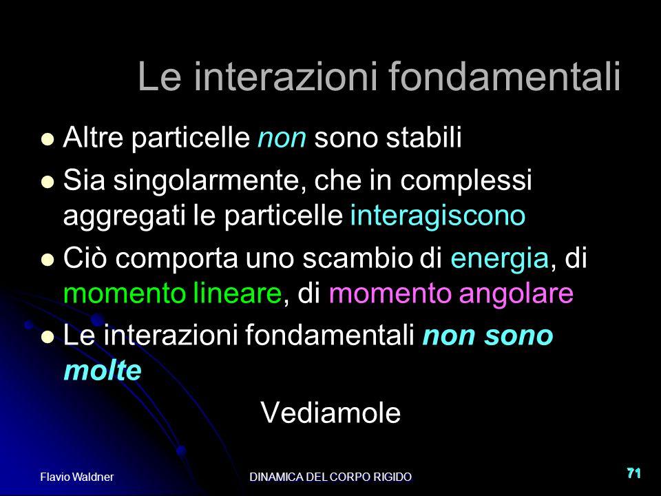 Le interazioni fondamentali