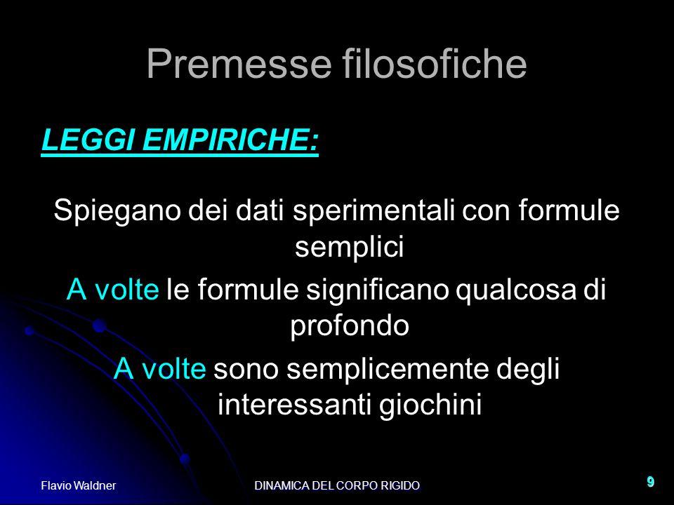 Premesse filosofiche LEGGI EMPIRICHE: