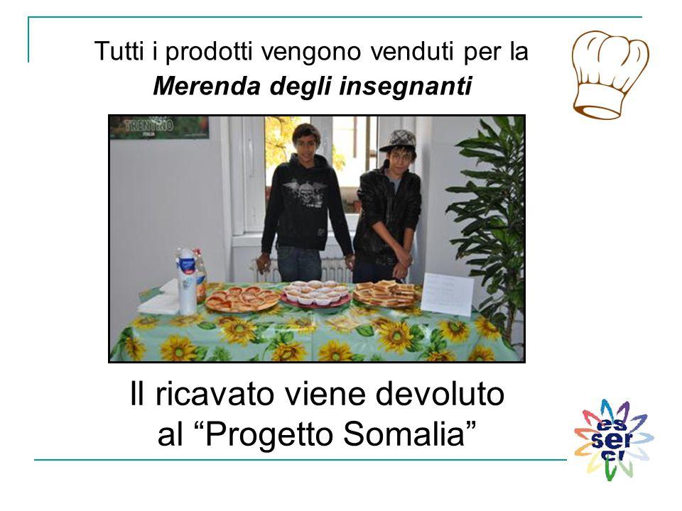Il ricavato viene devoluto al Progetto Somalia
