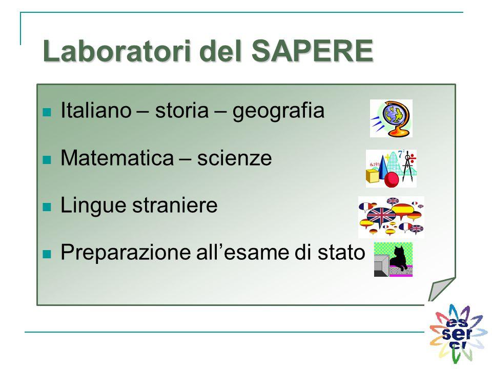 Laboratori del SAPERE Italiano – storia – geografia