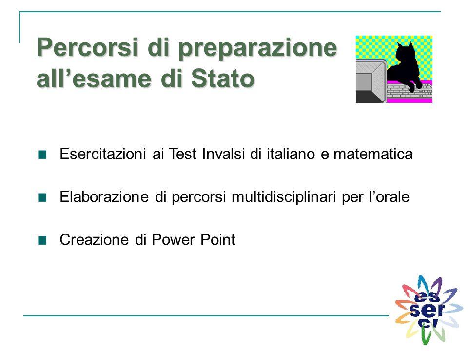 Percorsi di preparazione all'esame di Stato