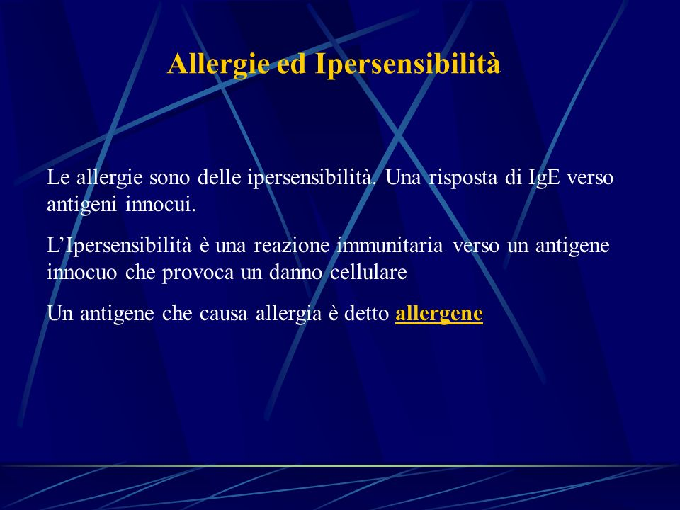 Allergie ed Ipersensibilità