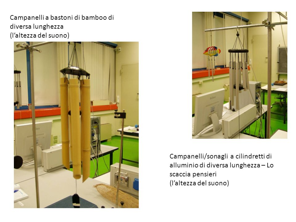 Campanelli a bastoni di bamboo di diversa lunghezza