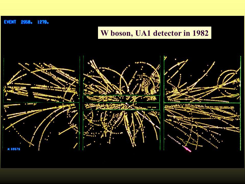 W boson, UA1 detector in 1982