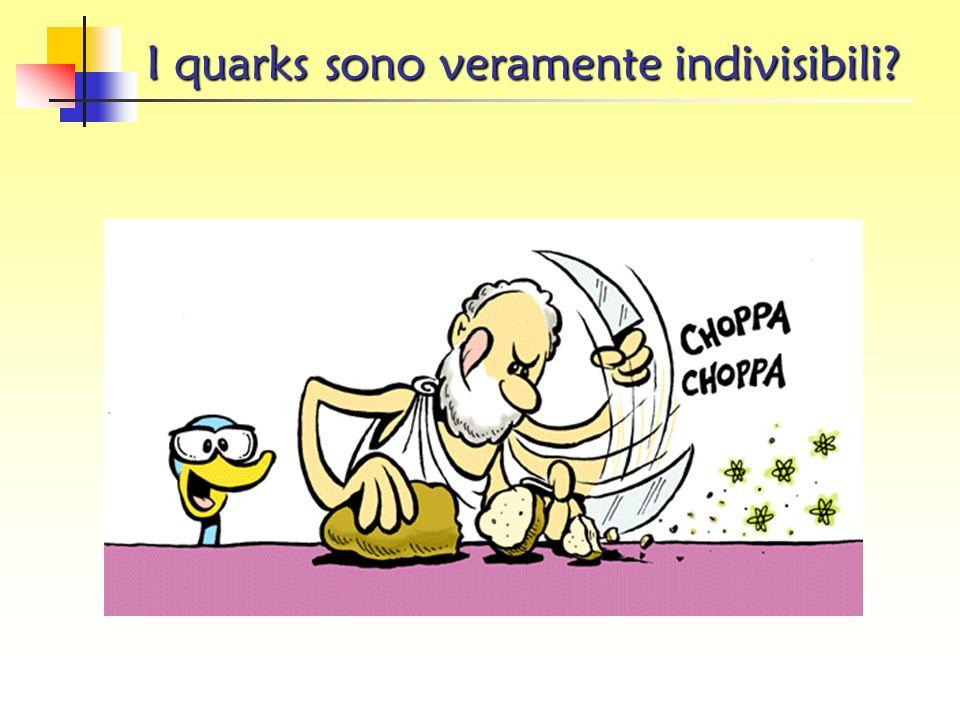 I quarks sono veramente indivisibili