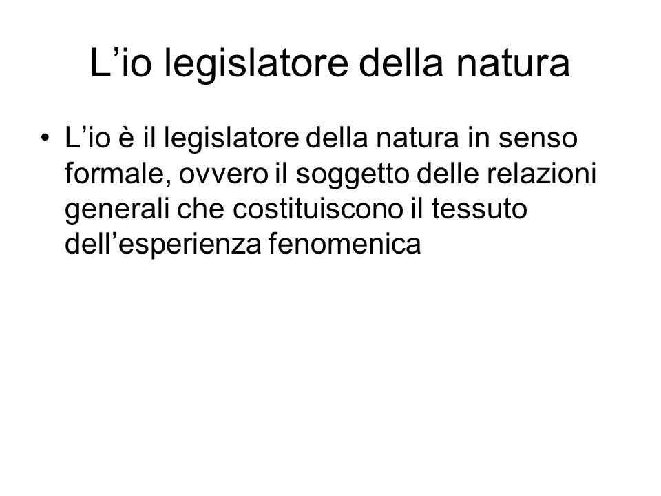 L'io legislatore della natura