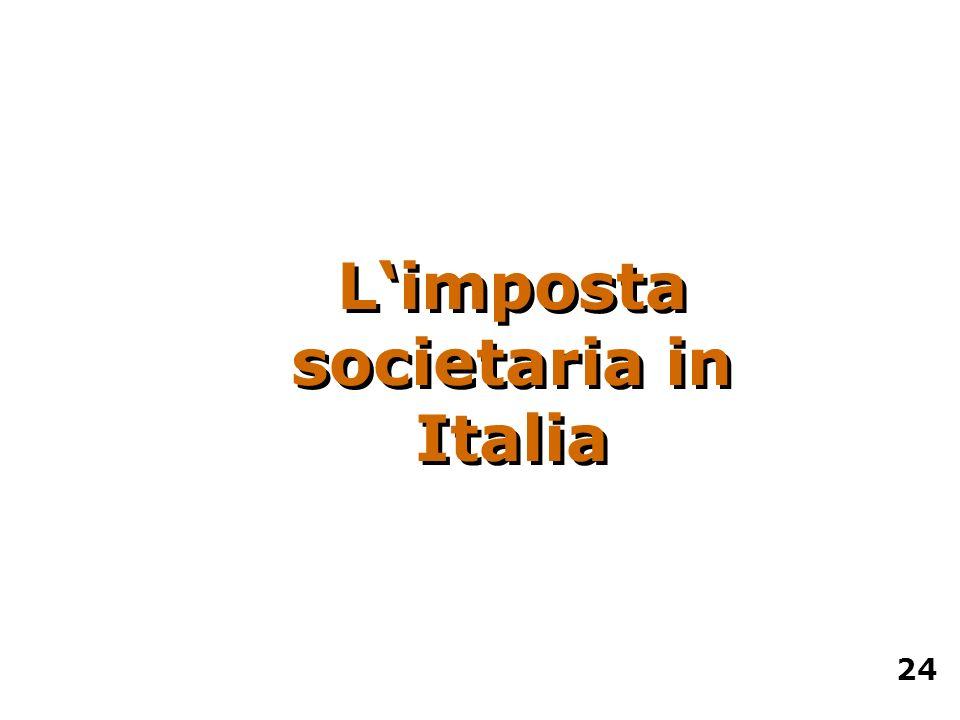 L'imposta societaria in Italia