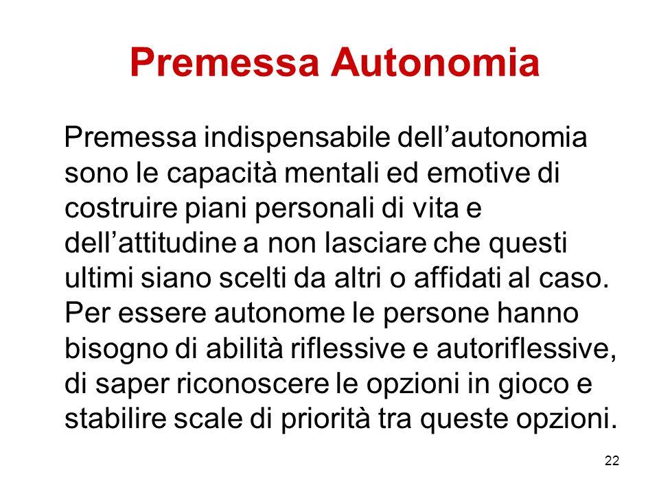 Premessa Autonomia
