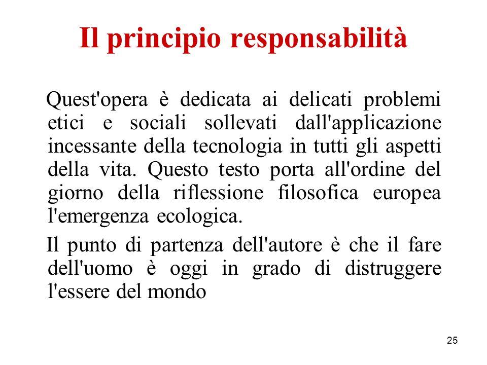 Il principio responsabilità