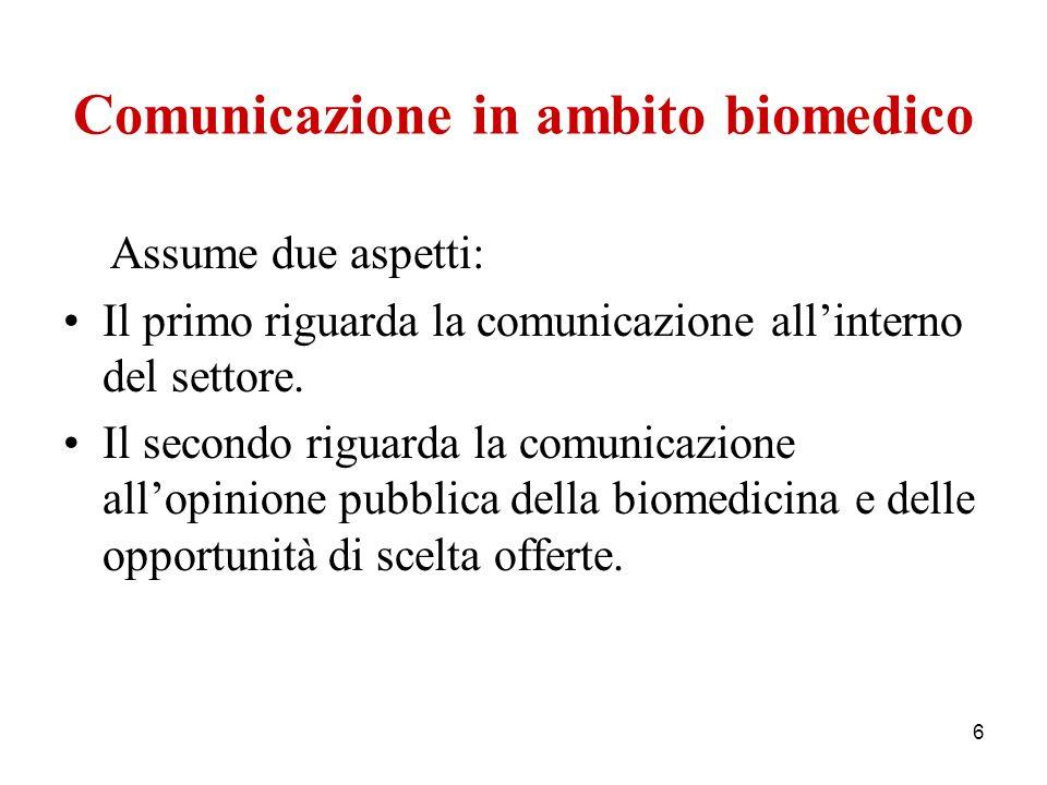 Comunicazione in ambito biomedico