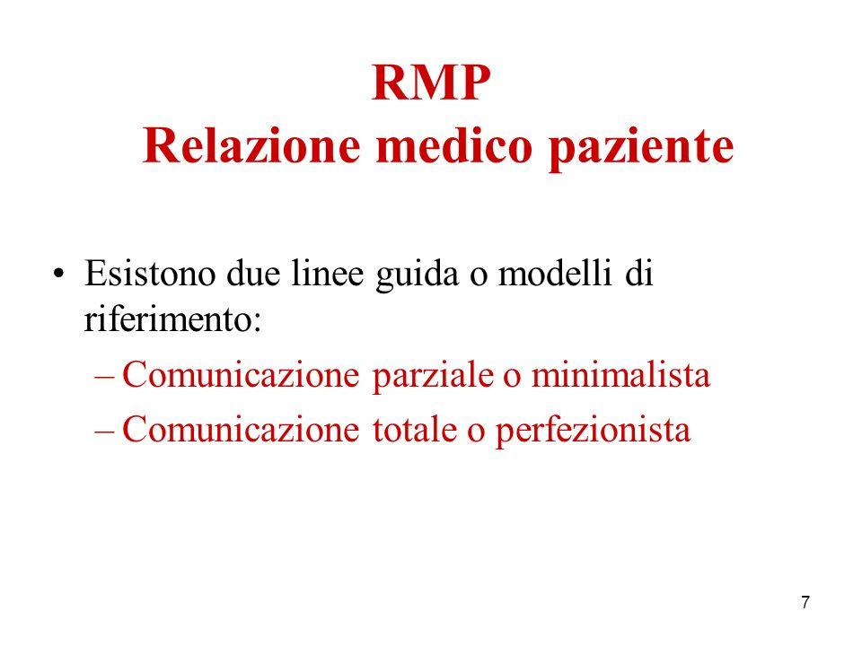 RMP Relazione medico paziente