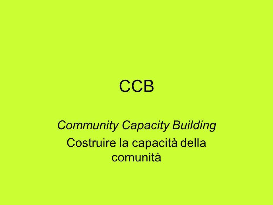 Community Capacity Building Costruire la capacità della comunità