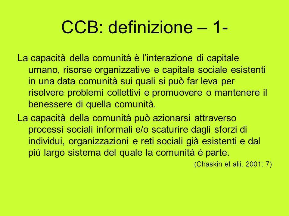 CCB: definizione – 1-