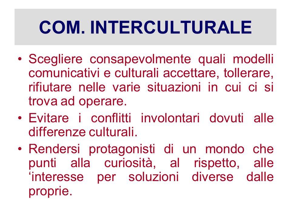 COM. INTERCULTURALE