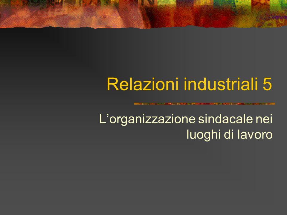 Relazioni industriali 5