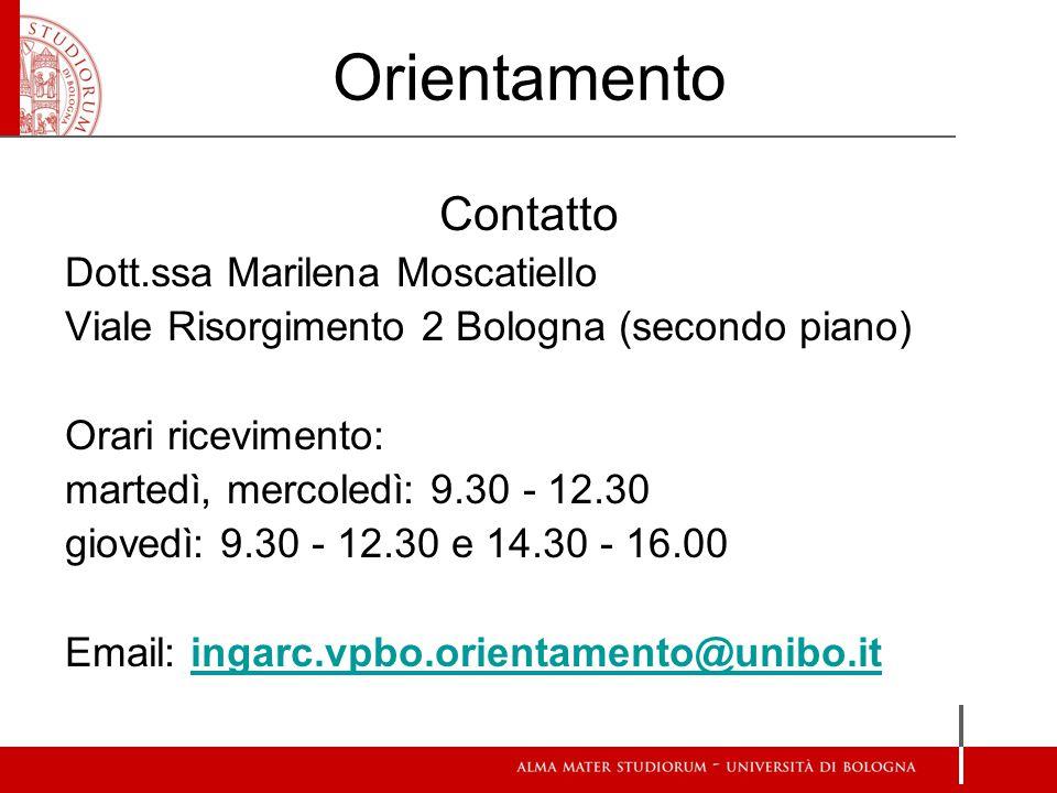 Orientamento Contatto Dott.ssa Marilena Moscatiello