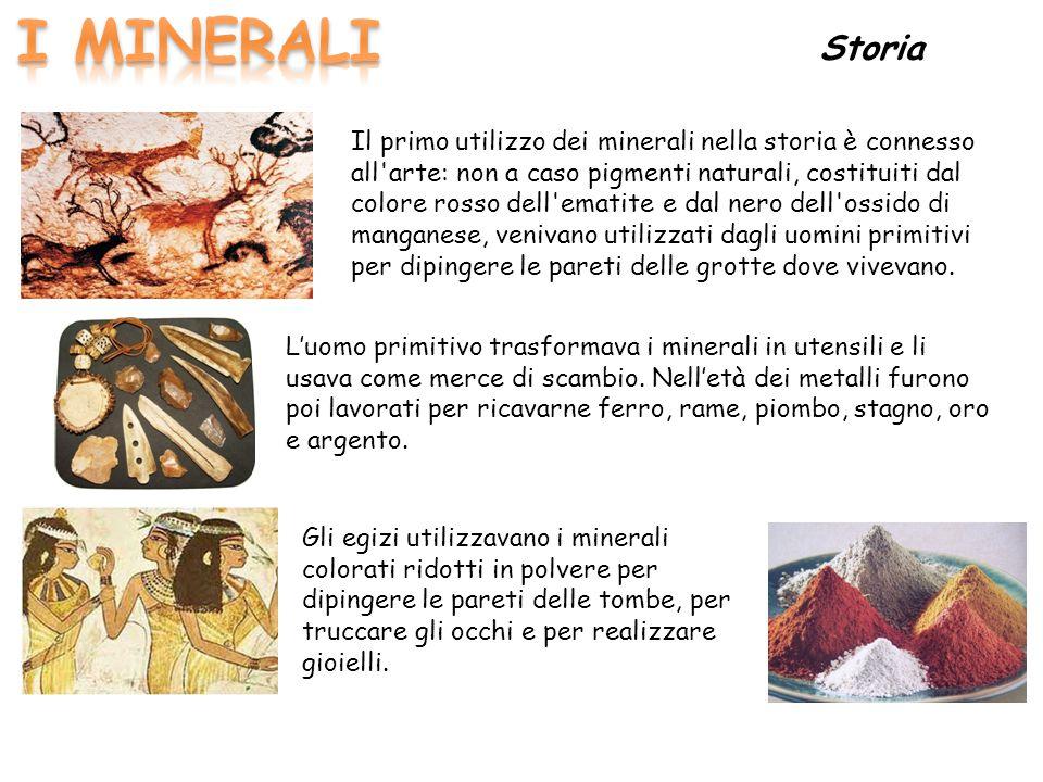 I MINERALI Storia.