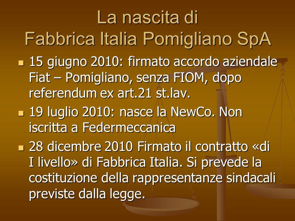 La nascita di Fabbrica Italia Pomigliano SpA
