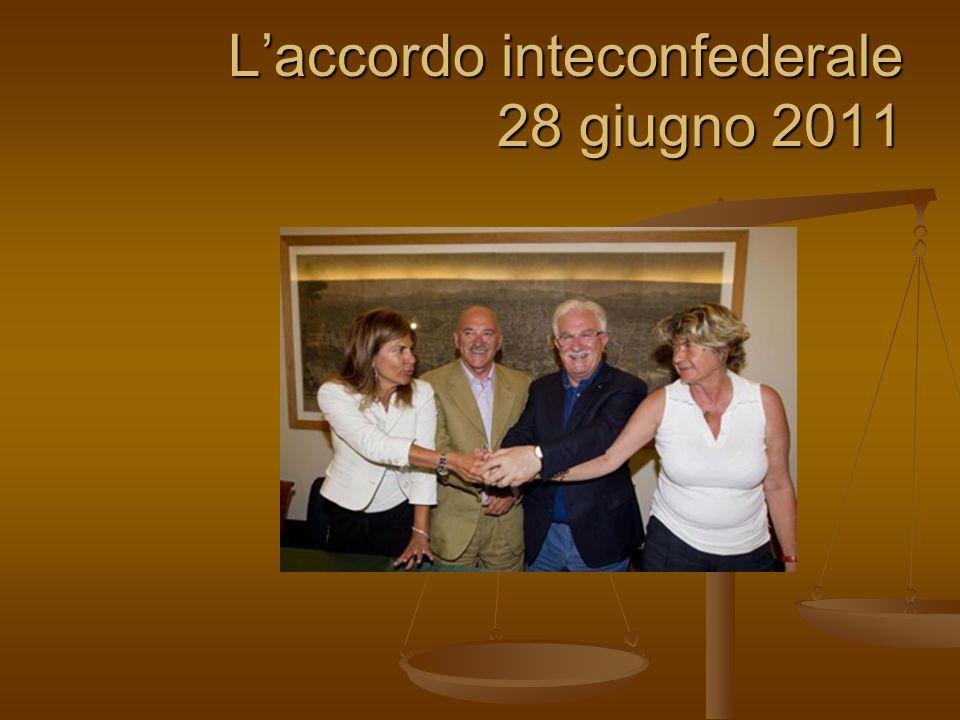 L'accordo inteconfederale 28 giugno 2011