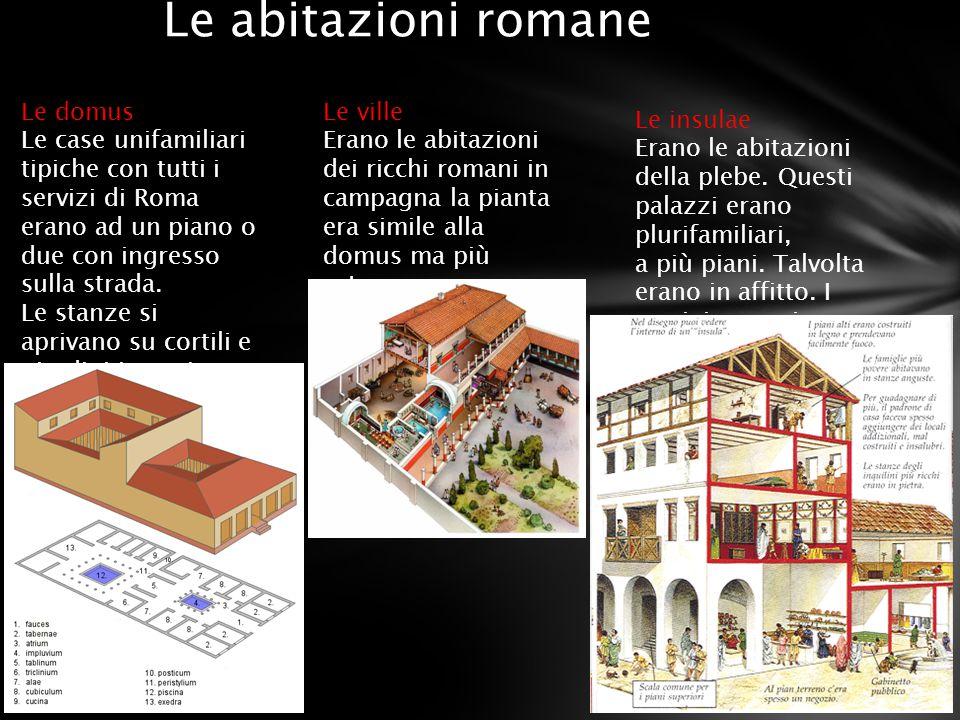 Le abitazioni romane Le domus