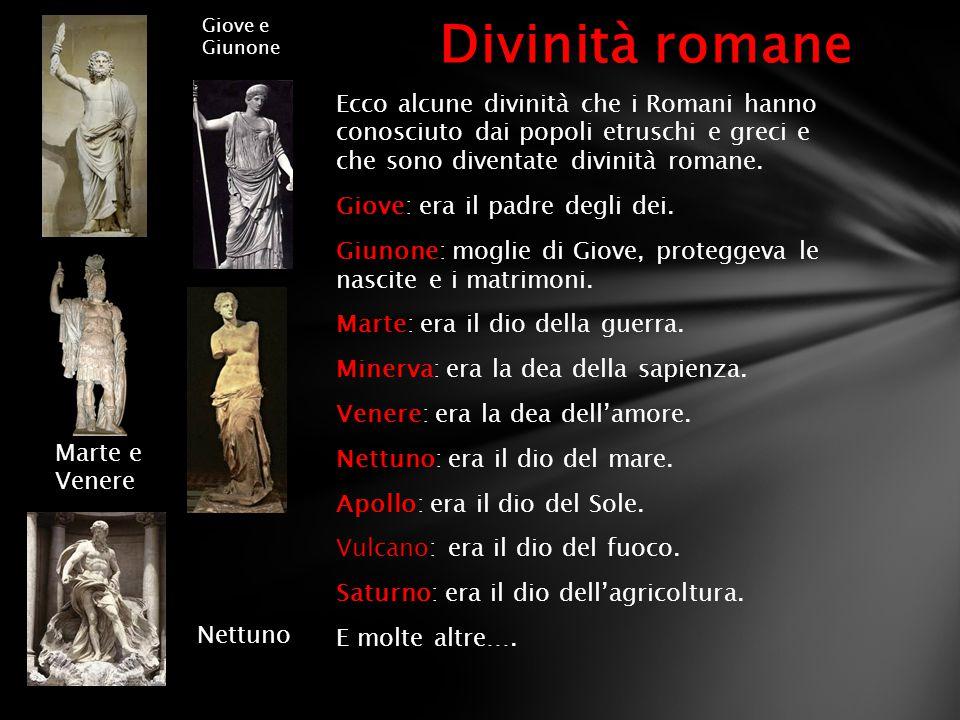 Giove e Giunone Divinità romane.