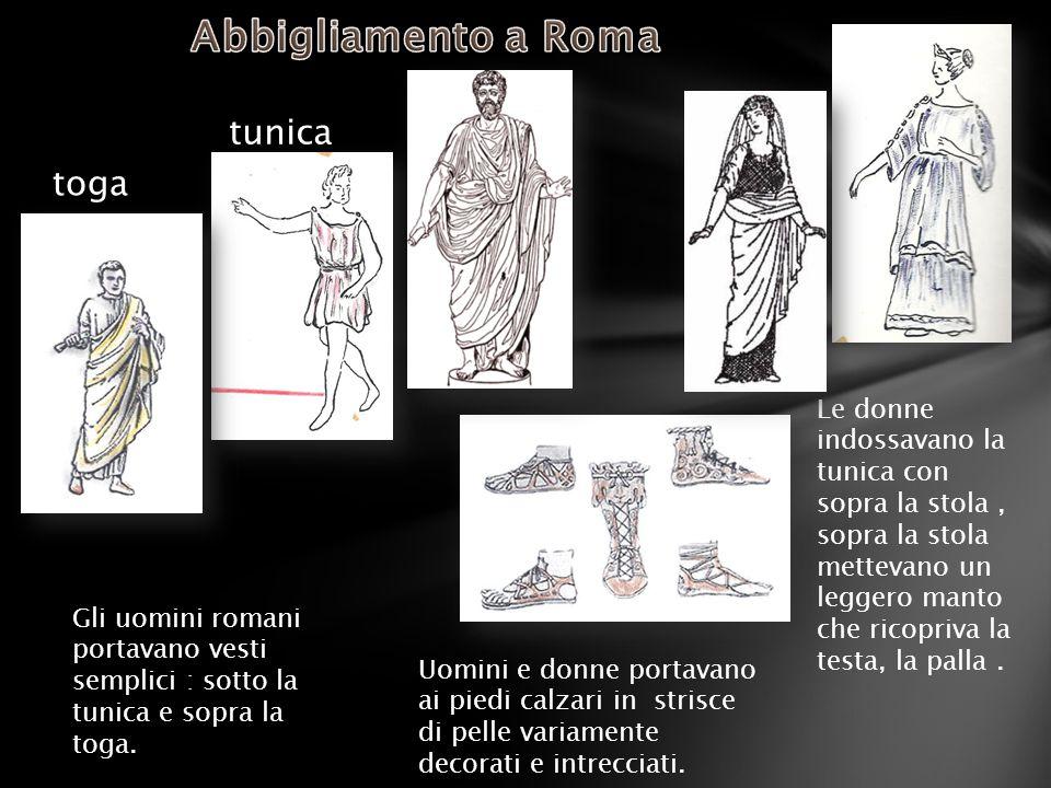 Abbigliamento a Roma tunica toga