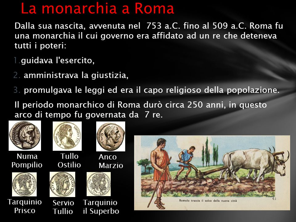 La monarchia a Roma