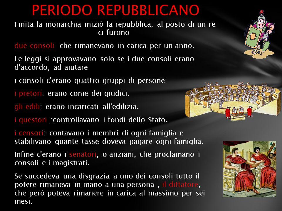 PERIODO REPUBBLICANO
