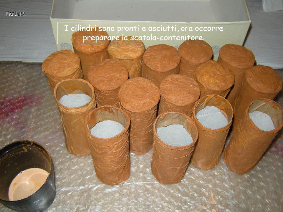 I cilindri sono pronti e asciutti, ora occorre preparare la scatola-contenitore.