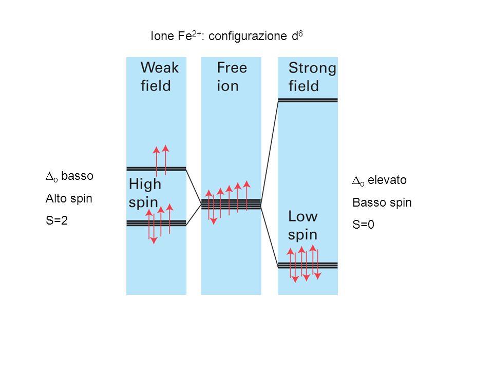 Ione Fe2+: configurazione d6